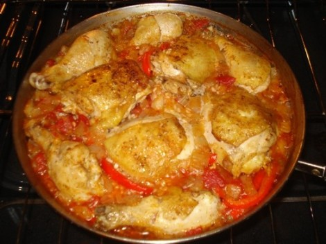 Baked Chicken Sofrito, Pre-Broiled