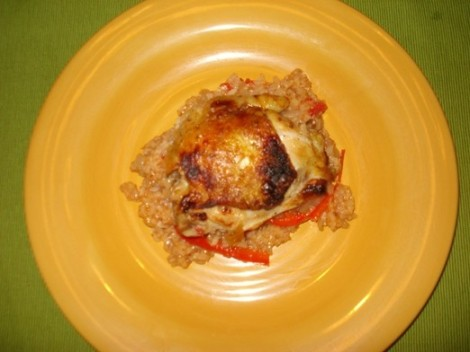Chicken Sofrito Plated