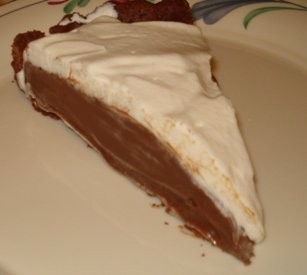 Slice of Chocolate Cream Tart