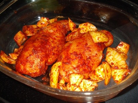 Paprika Roast Chicken - Heading Into the Oven