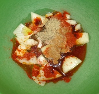 Paprika Roast Chicken - Spices & Onion