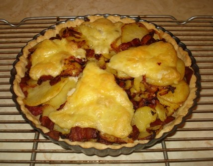 Brie, Bacon & Potato Tart
