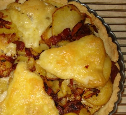 Brie, Bacon, & Potato Tart