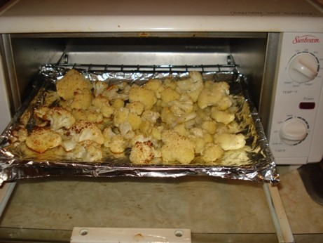 Roasted Cauliflower in Toaster Oven