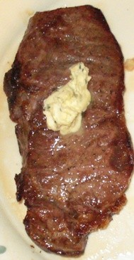 Broiled Steak with Herbed Butter