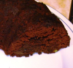 Tunnel of Fudge Cake Closeup