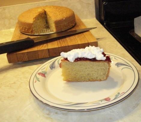 Almond Jam Cake
