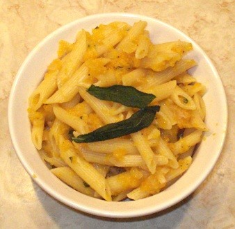 Butternut Squash Pasta with Fried Sage Leaves