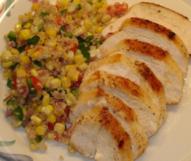 Chicken with Bulgur and Corn Salad