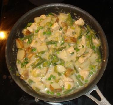 Simmering Broth - Pot Pies