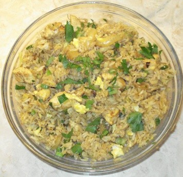 Thai-Style Curried Chicken Fried Rice