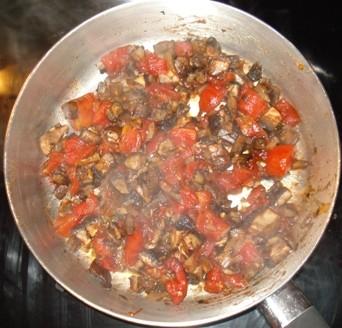 Chopped Portobellos & Tomato Sauce