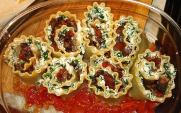 Rolled Lasagna, Pre-Bake