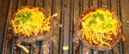 Flay - Patties with Cheddar and Scallions