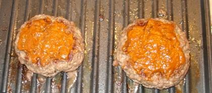 Flay Patties with BBQ Sauce