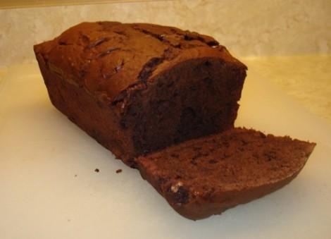 Sliced Chocolate Banana Loaf