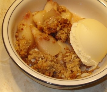 Peach Crumble