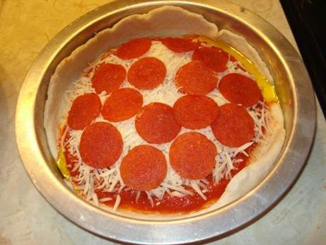 Precooked Pepperoni Pan Pizza