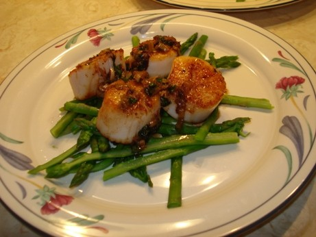 Scallops with Asparagus 2
