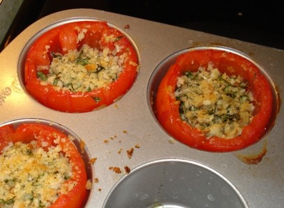 Stuffed Tomatoes: Baked
