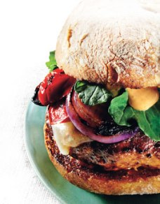 BA Turkey Burger with Cheddar and Smoky Aioli