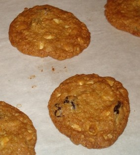Chocolate Chip Oatmeal Cookies with Dried Cherries 2