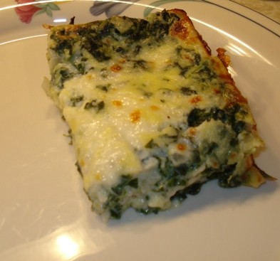 Spinach & Cheese Lasagna