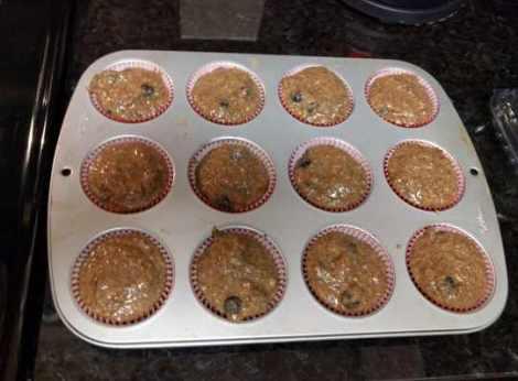 Blueberry Flax Muffin Batter