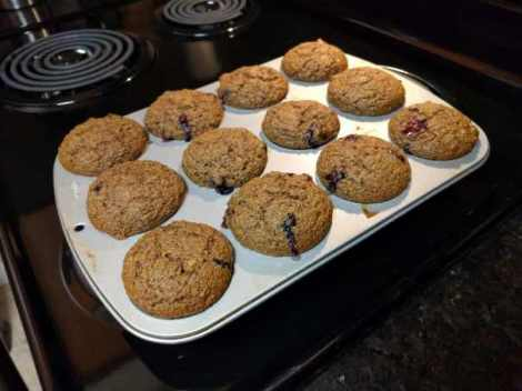 Blueberry Flax Muffin Pan